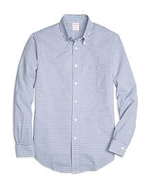 Madison Fit Horizontal Stripe Seersucker Sport Shirt