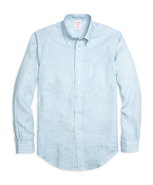 Madison Fit Stripe Linen Sport Shirt
