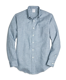 Regent Fit Check Linen Sport Shirt