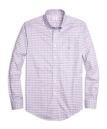 Non-Iron Madison Fit Slub Check Sport Shirt
