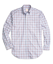 Golden Fleece® Madison Fit Bold Windowpane Sport Shirt
