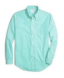Regent Fit Seersucker Stripe Sport Shirt