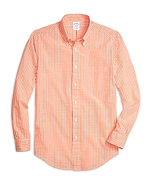 Regent Fit Seersucker Check Sport Shirt
