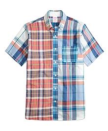 Madison Fit Fun Madras Short-Sleeve Short Shirt