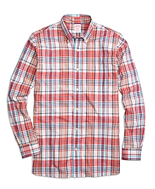 Madison Fit Pink Madras Sport Shirt