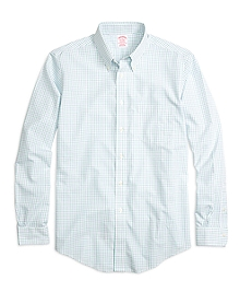 Non-Iron BrooksCool® Madison Fit Tattersall Sport Shirt