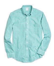 Non-Iron BrooksCool® Regent Fit Small Plaid Sport Shirt