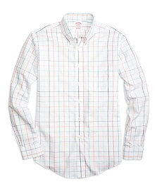 Non-Iron BrooksCool® Madison Fit Large Tattersall Sport Shirt