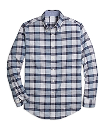 Regent Fit Heathered Plaid Sport Shirt