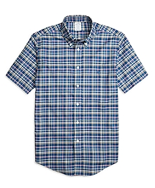 Non-Iron Regent Fit Multiplaid Short-Sleeve Sport Shirt