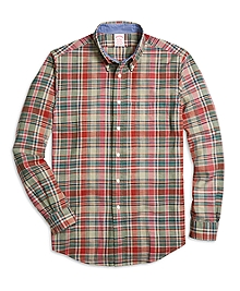 Madison Fit Multiplaid Sport Shirt