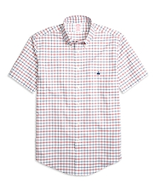 Non-Iron Madison Fit Check Short-Sleeve Sport Shirt