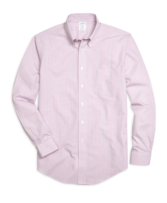Non-Iron Regent Fit Micro Gingham Sport Shirt