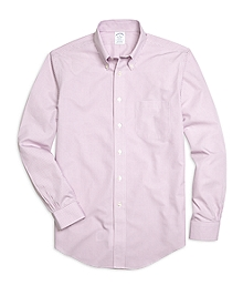 Non-Iron Regent Fit Micro Gingham Sport Shirt
