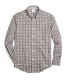 Non-Iron Regent Fit Heathered Gingham Sport Shirt