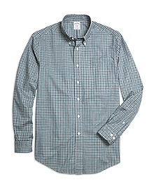 Regent Fit Heathered Gingham Sport Shirt