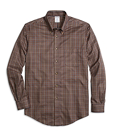 Non-Iron Regent Fit Micro Plaid Sport Shirt
