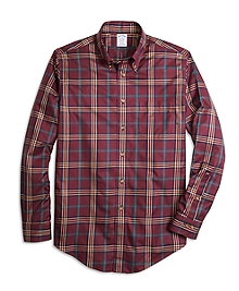 Non-Iron Regent Fit Signature Tartan Sport Shirt