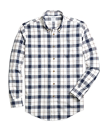Non-Iron Regent Fit Blanket Plaid Sport Shirt