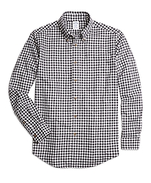 Regent Fit Flannel Gingham Sport Shirt