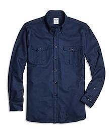 Regent Fit Saxxon Wool Sport Shirt