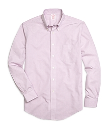Non-Iron Madison Fit Micro Gingham Sport Shirt
