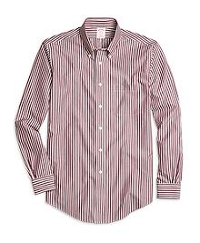 Non-Iron Madison Fit Ground Stripe Sport Shirt
