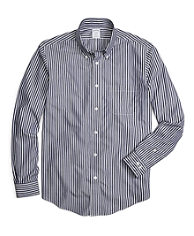 Non-Iron Regent Fit Ground Stripe Sport Shirt