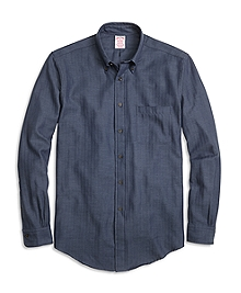 BrooksFlannel® Madison Fit Herringbone Sport Shirt