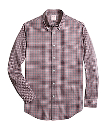 Madison Fit Heathered Gingham Sport Shirt