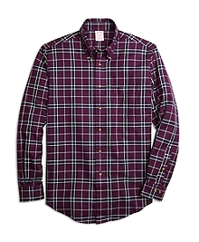Non-Iron Madison Fit Blanket Plaid Sport Shirt
