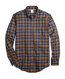 Non-Iron Madison Fit Blanket Plaid Sport Shirt