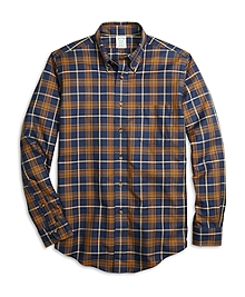 Non-Iron Milano Fit Blanket Plaid Sport Shirt