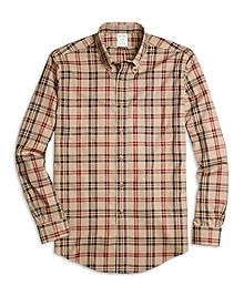 Non-Iron Milano Fit Signature Tartan Sport Shirt