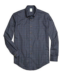 Non-Iron Milano Fit Micro Plaid Sport Shirt