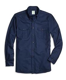 Milano Fit Saxxon Wool Sport Shirt