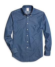 Madison Fit Button-Down Collar Denim Sport Shirt