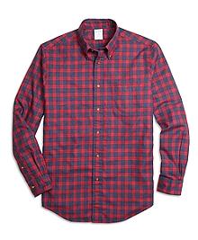 Regent Fit Flannel Check Sport Shirt