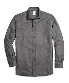 Regent Fit Saxxon Wool Glen Plaid Sport Shirt