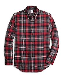 Regent Fit Flannel Graph Plaid Sport Shirt