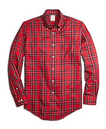 Non-Iron Milano Fit Royal Stewart Tartan Sport Shirt