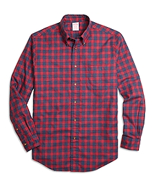 Madison Fit Flannel Check Sport Shirt