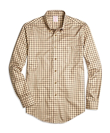Non-Iron Madison Fit Double Windowpane Sport Shirt