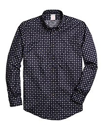 Non-Iron Madison Fit Foulard Print Sport Shirt
