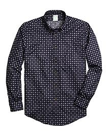Non-Iron Milano Fit Foulard Print Sport Shirt