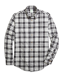 Milano Fit Flannel Heathered Multi Plaid Sport Shirt