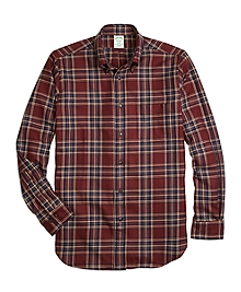 Milano Fit Saxxon Wool Plaid Sport Shirt