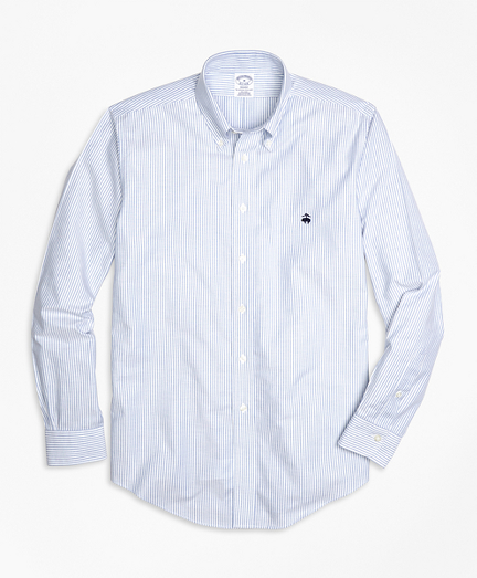 Non-Iron Regent Fit Oxford Stripe Sport Shirt