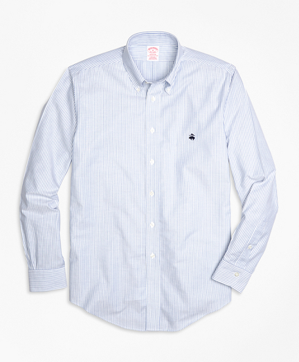 Non-Iron Madison Fit Oxford Stripe Sport Shirt