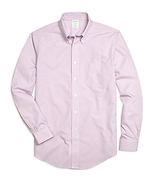 Non-Iron Milano Fit Micro Gingham Sport Shirt